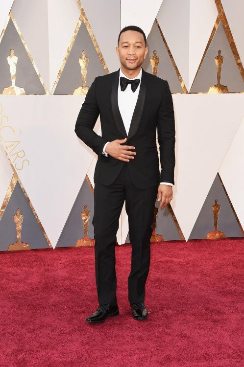 John Legend was dapper in a Paul Smith tux.