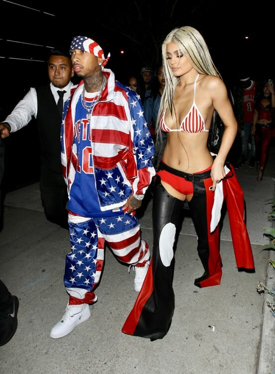 Kylie Jenner nailed this Christina Aguilera look while Tyga reminded us of the Diplomats' dominance in hip-hop with his Juelz Santana costume.